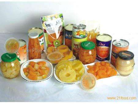 Canned vairous Fruits