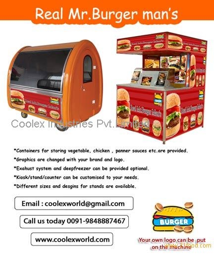 Burger machine kiosk