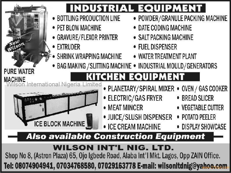Pure water machine, Kitchen and Construction Equipment