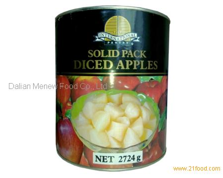 CANNED APPLE IN SOLID PACK A10