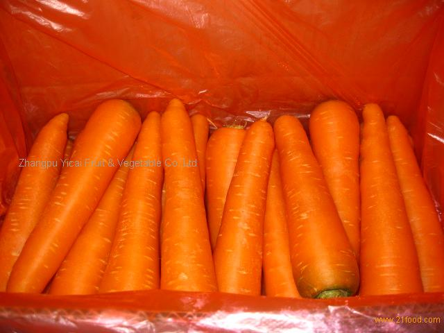 top fresh carrot