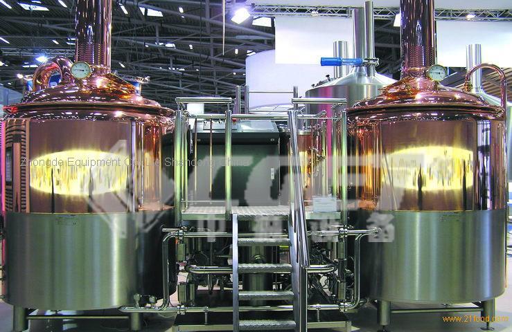 1000L red copper mash system
