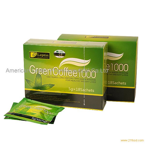 Leptin Green Coffee 1000 Slimming Products United States