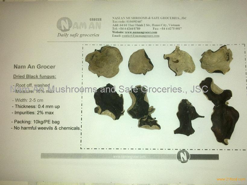 Black fungus: ( kikurage, mo-ei, wun yee, kuping tikus, cendawan telinga kera, hed hunu, wood ear )
