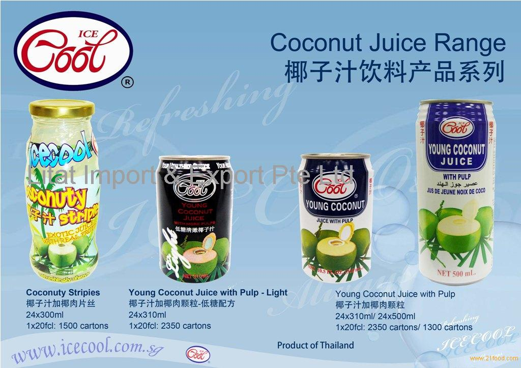 Coconut Juice series - Young coconut juice with pulp 500ml