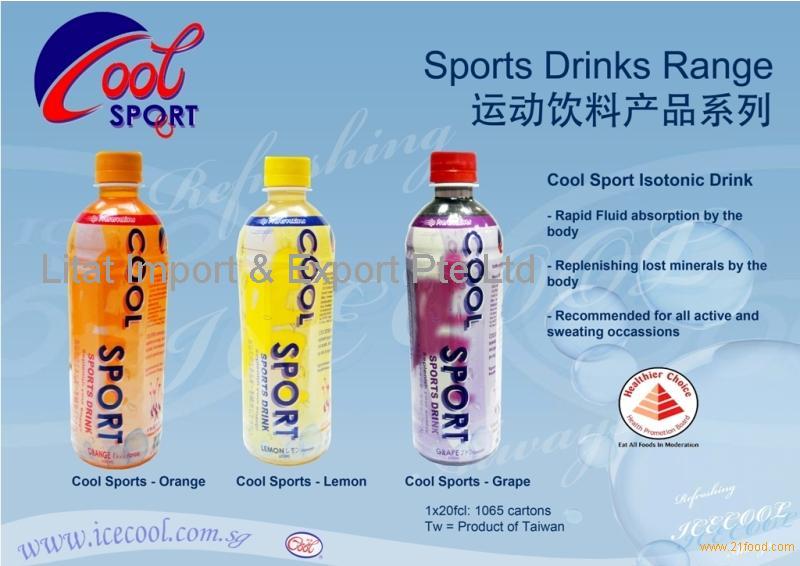 Cool Sport Isotonic Drink series (Orange, Lemon, Grape)