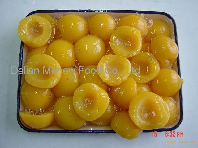 Canned Yellow Peach Halves in light syrup 720ml Glass Jars