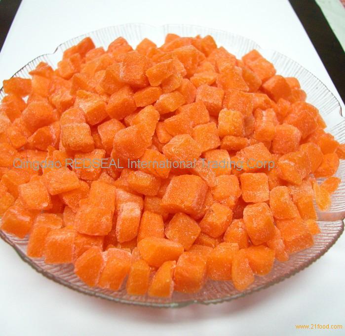 First grade frozen carrot dice