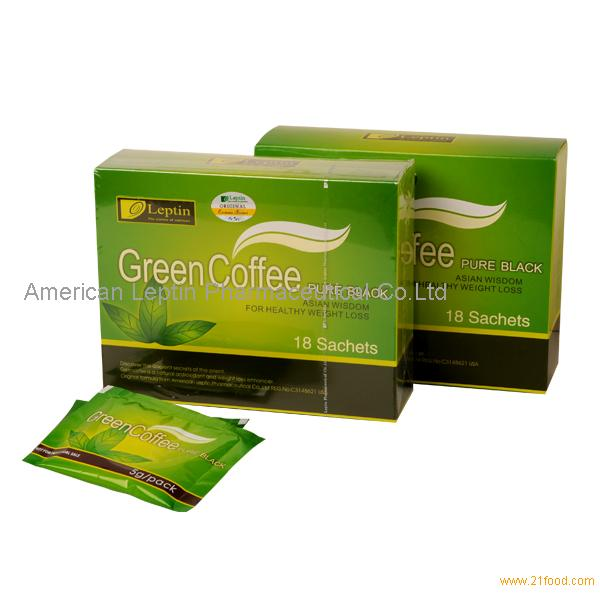Leptin Green Coffee Pure Black Slimming Effect Products