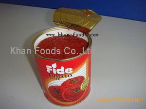 tomato paste in tin