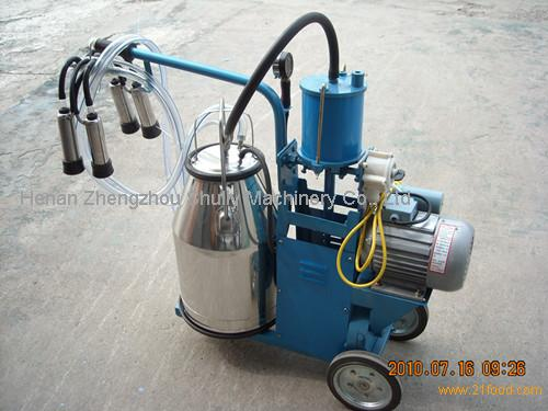 Mechanical moving single bottle cow milking machine ...