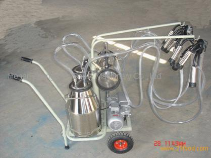 Vacuum Moving double bottle Cow Milking machine products,China Vacuum ...