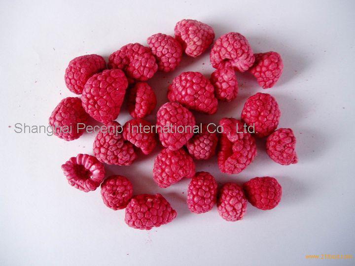 Freeze dried raspberry dice