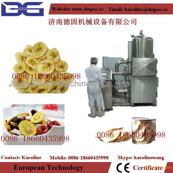 vacuum frying machine for fruit and vegetable chips