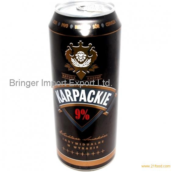 Karpackie 9 Lager Beer 500ml Can Products Hungary