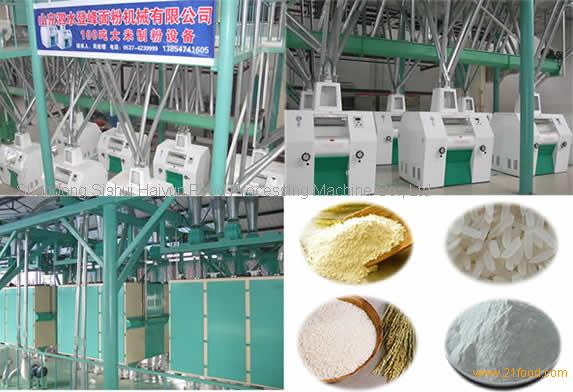 complete rice four mill machine