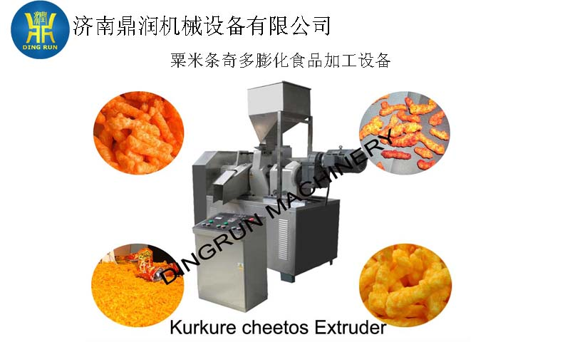 Kurkure/corn curls snacks machine