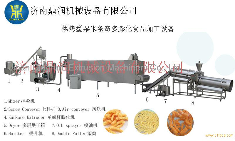 Cheetos extrusion snack food making machine