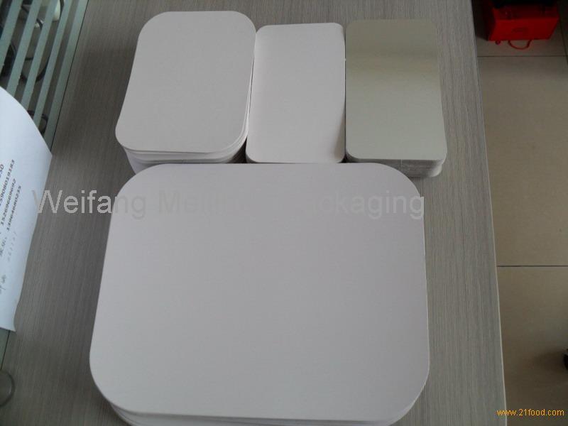 Aluminium foil containers laminated paper board lids