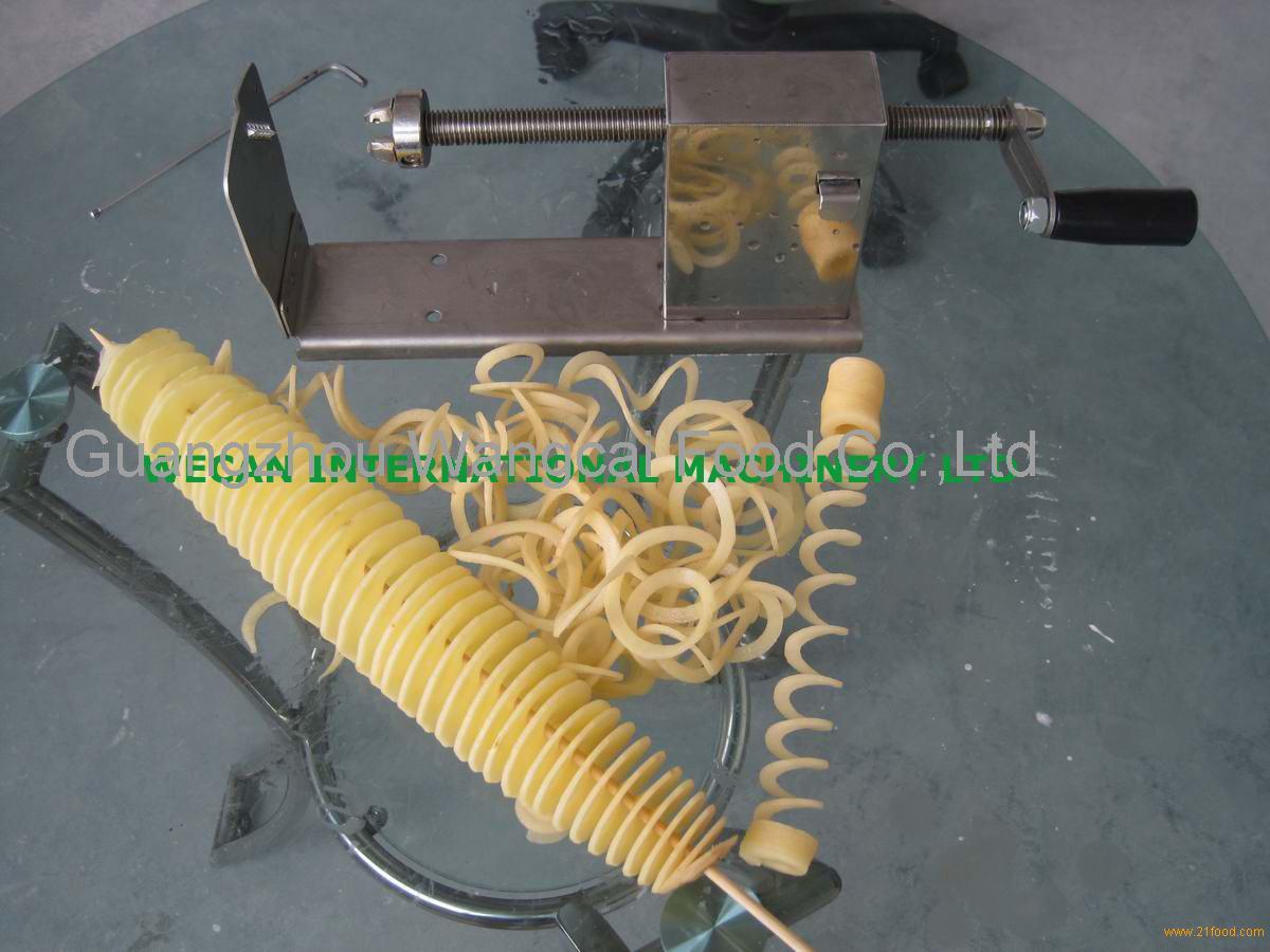 Ribbon fries machine