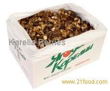 IQF sliced mushrooms (boletus edulis)