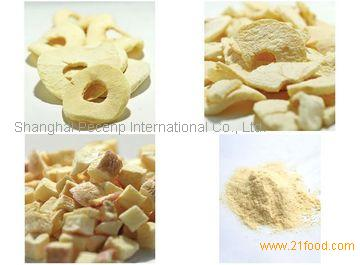 dried apple ring, cube, powder