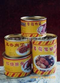 canned pig knuckle with mushroom