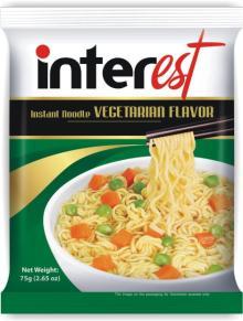 """Vegetarian Flavour Instant noodles """"Interest""""75gr"""