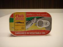 CHILI BRAND canned sardines 125g in veetable oil