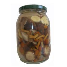 canned assorty mushrooms (nameko, shiitake, oyster, suillus mixed) 1000mlx12jars/ctn