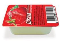 Portion pack PREMIUM 51% FRUIT Strawberry Jam 25g