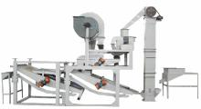 Oats Dehulling and separating machine