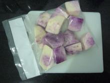 Frozen purple yam