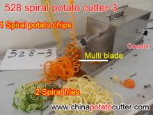 528 spring potato machine twister potato cutter