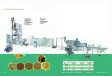 floating and sinking Fish feed processing plant