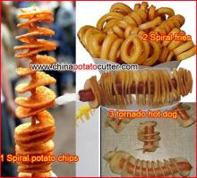 ribbon fry machine for sale twisted chips cutter