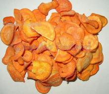 Low temperature Vacuum Fried Carrot slices