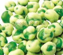 wasabi flavor coated green peas