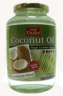 Organic Virgin Coconut Oil, cold pressed, centrifuged, premium