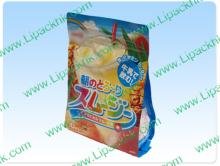 Aluminium Foil Side Gusseted Zipper Packaging Bag For Drink Powder