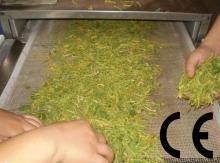 industrial flower tea leaf drying sterilization machine