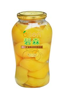 canned yellow peach fruit