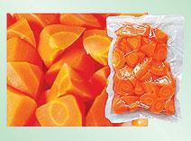 boiled carrot dice