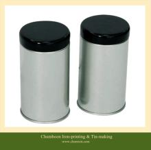 Round tea tin can with air-tight lids