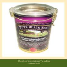 Oval  tea   tin   can s