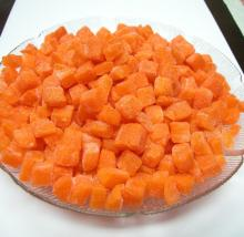 Frozen carrot and onion dices