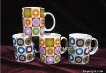 white porcelain decorative mugs, drink cups