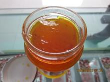 Orange marmalade in glass jars