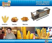 french fries potato cutting machine