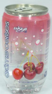 cherry flavour aerated water